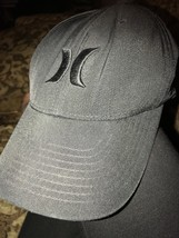 Hurley Nike Dri-Fit Lightly Distressed Baseball Hat Cap S M FlexFit Preowned - $14.20