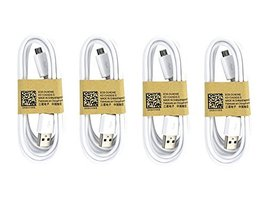 4 Pack Samsung OEM 5-Feet Micro USB Data Sync Charging Cables for Galaxy S3/S4 - - $12.86