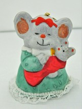 Jasco Bell Mice – Caring Critter Chimers – Hand painted - Bisque Porcelain - $9.03