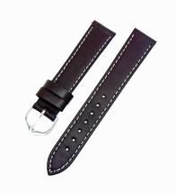 18mm  Speidel Express Genuine Leather Dark Brown Stiched Watch Band  w/ ... - $9.89