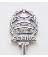 Collector Souvenir Spoon China Peking Beijing Temple of Heaven Figural - $19.99