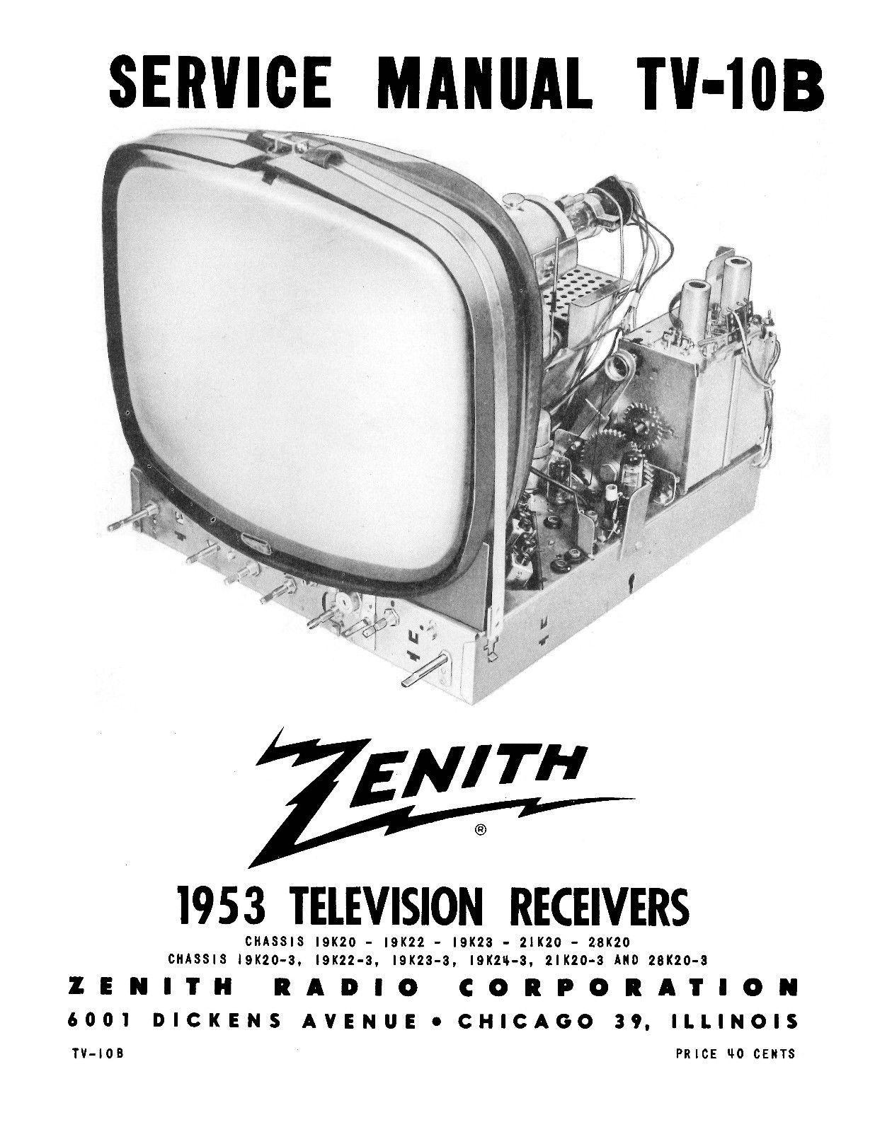 zenith tv manuals