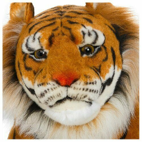 Giant Plush Tiger Soft & Cuddly Life-Like Details (Body About 47 IN, Tail 30 IN) image 2