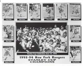 New York Rangers 1993-94 Collage Ny 8X10 Photo Nhl Hockey Stanley Cup Champions - $3.95