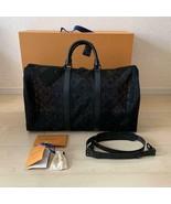 Louis Vuitton Keepall 50 Black Monogram see-through Mesh M53971 - $4,841.10