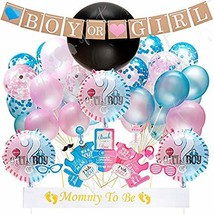 """Gender Reveal Baby Shower Party Supplies - 36"""" Balloon, Pink and Blue Co... - $24.32"""