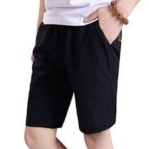 George Jimmy Black Quick-Drying Pants Men Casual Boardshorts Holiday Loose Beach - $14.35