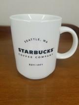 Starbucks 14 oz  2018 White Ceramic Coffee Mug Cup Co Seattle Wa Est 1971  - $9.89