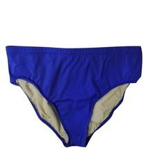 Just Beachin Womens Solid Brief Swim Bikini Bottom Lapis Purple 14 - $19.99