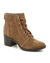 New Anne Klein Brown Suede Leather Boots Booties Size 8.5 M $120 - $34.99