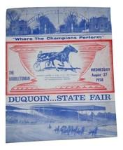 Du Quoin Il State Fair Hambletonian Stakes 1958 Harness Racing Program B... - $119.99