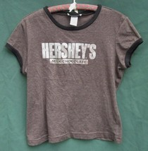 HERSHEY's CHOCOLATE GIRL'S XL SPARKLY SILVER LOGO SHIRT TOP Self Esteem ... - $9.49