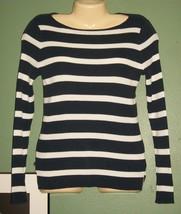 LAUREN Ralph Lauren Long Sleeve Striped Sweater - $25.74