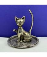 Interpur antique ring holder silver car siamese kitten figurine art deco... - $39.55