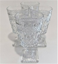 4 Imperial Glass Ohio Cape Cod Clear Goblets Wine Glasses 1602 + 160 Ste... - $49.50