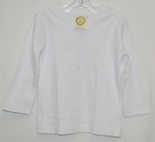 Blanks Boutique Boys Long Sleeve White Tee Shirt 18 Months