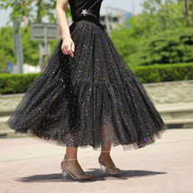 Black Tulle Party Skirt Women Tiered Layered Tulle Skirt Tulle Party Skirt Plus image 3