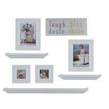MELANNCO 8 Piece Shelf and Frame Set White - $48.78