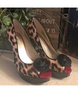 Guess animal print patten leather open toe shoes - $40.59
