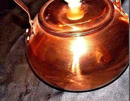 Copper Tea Kettle with Gooseneck Spout  AA18-1208 Vintage image 4