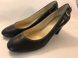 Lauren Ralph Lauren Women's 9.5 M Black Leather Round Toe Pumps Heels Bu... - $25.00