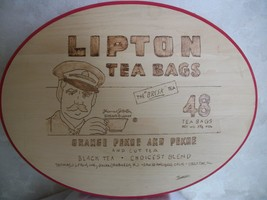 Lipton Tea Bags Hand-Carved, Hand Painted Wood Carving by Jarosz (#0617) - $52.99