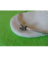 NEW Two-Tone Frog Prince Fairytale Charm, 925 Silver & 14k Gold plate, +... - $12.99