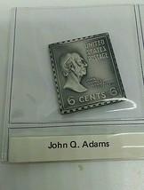 sterling silver John Q Adams presidential stamp ingot  - $23.20