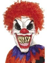 Scary Clown Mask, Foam Latex, One Size, Halloween Fancy Dress Accessories #AU - $19.95
