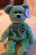 "Vintage Ty Beanie Babies Kicks "" The Soccer Bear "" Hang Tag 1998/Tush Ta... - $19.79"