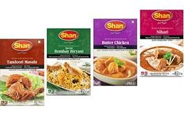 Shan Spices - Variety Pack of 4 Tandoori, Butter Chicken, Bombay Biryani... - $15.64