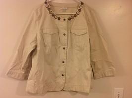 DressBarn Sand Colored 3/4 Sleeve Short Jacket Sz 18/20 - $59.40