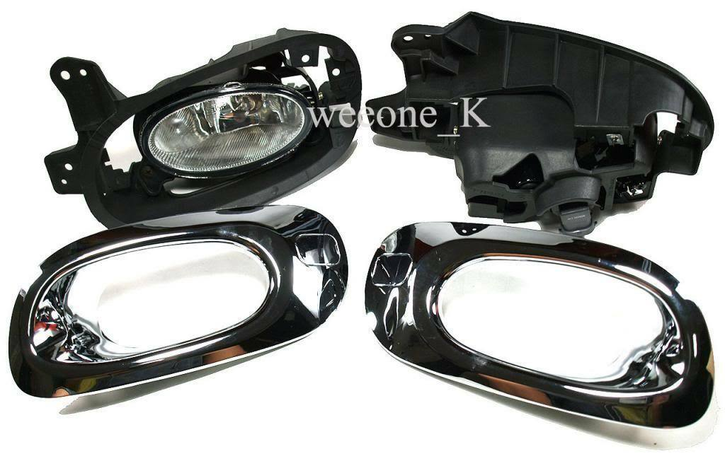 CHROME FOG LIGHT LAMP FOR HONDA JAZZ / FIT NORMAL VERSION 2011 image 2
