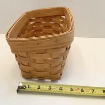 """Longaberger basket Slanted Graduated Dated Signed 1999 size 8""""x4"""" - $25.00"""