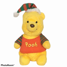 "Ty Disney Winnie The Pooh Christmas Plush Red Green Stuffed Animal 2012 7"" - $19.80"