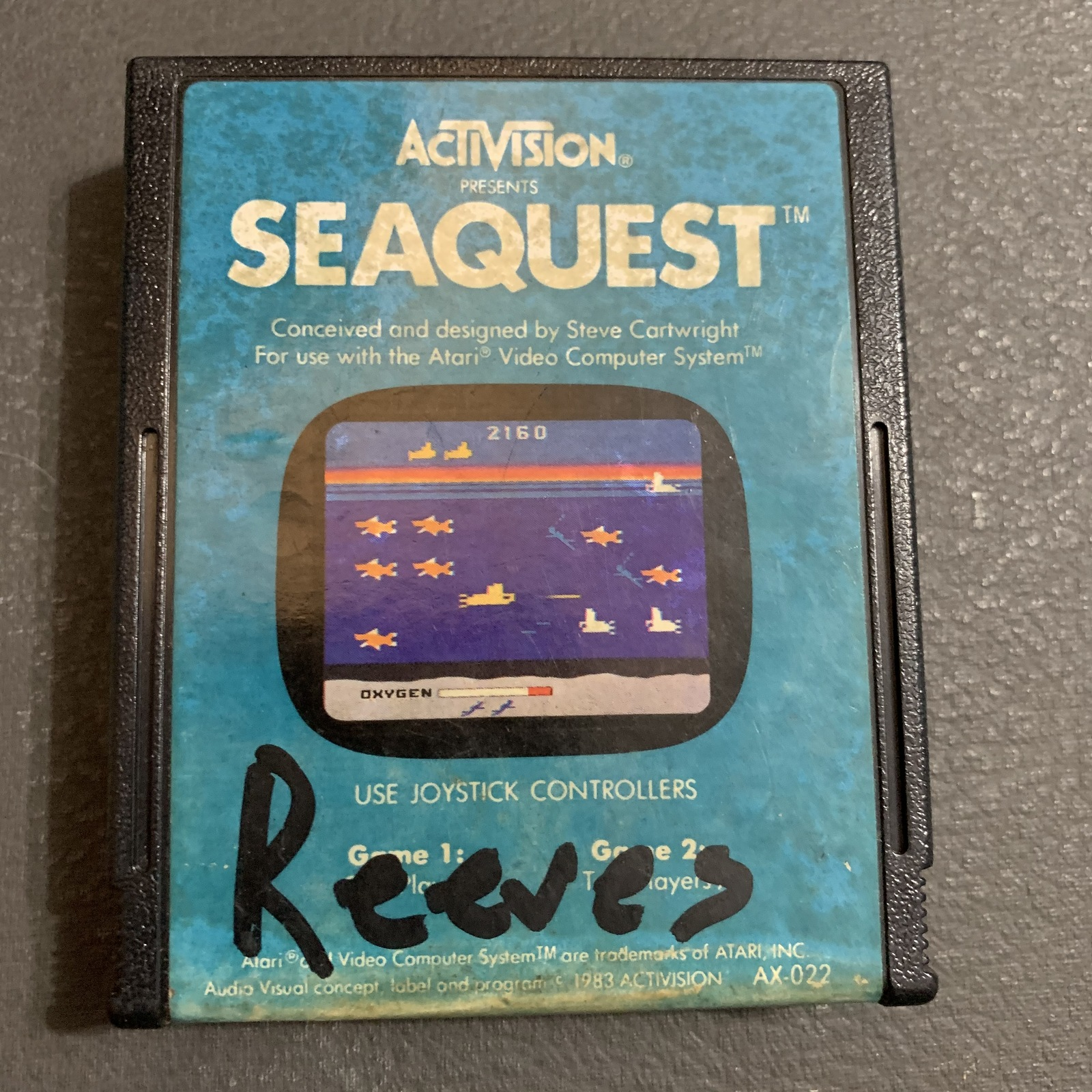 ATARI 2600 Seaquest tested video game cartridge Activision 1983 submarine arcade - $2.99