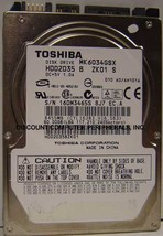 "MK6034GSX Toshiba 60GB 2.5"" 9.5MM HDD2D39 Drive Free USA Ship Our Drives Work"