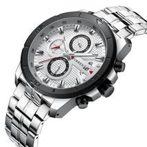 Full Steel Wristwatch Mens CURREN 2019 Top Brand Luxury Sports Watch Men Fashion - $50.25+
