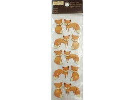 Recollections Dimensional Fox Stickers, 10 Pieces #367837
