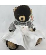"The Bear Factory Bride Teddy Bear 14"" Plush Brown Bridal Dress Veil Wedding - $13.55"