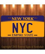 NYC New York City Aluminum Vanity License Plate New - $12.82