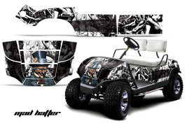 Yamaha Golf Cart Graphic Kit Wrap Parts AMR Racing Decal 1995-2006 MAD HATTER W - $299.95