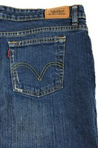 Levi's 515 Bootcut Mid Rise Stretch Red Tab Blue Jeans Women's 16M 36x28 - $11.31
