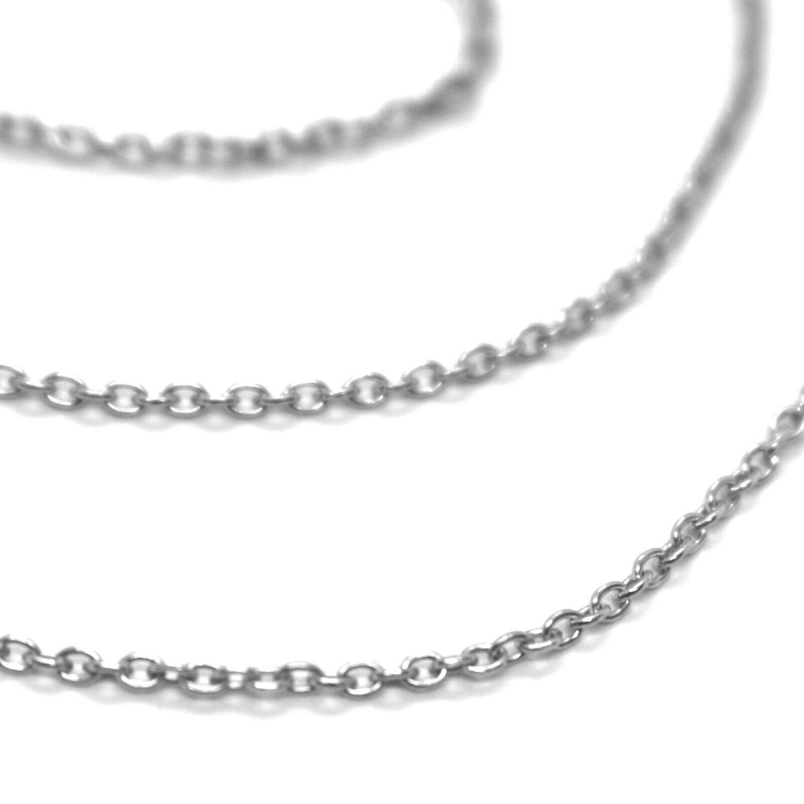 MINI GOLD CHAIN WHITE 750 18K, 40 45 0,5 50 CM, JERSEY ROLO', CIRCLES DIAM. 1 MM image 3