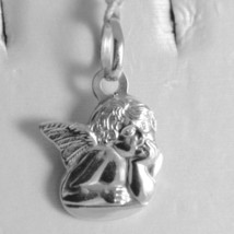 Pendant In White Gold Medal 750 18k Guardian Angel, Engraving, Made in Italy image 1