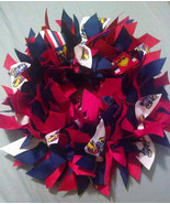 "KANSAS UNIVERSITY Jayhawks  12"" Ribbon Wreath Custom Made For Each KU Fan - $30.00"