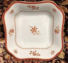 "Spode GLOUCESTER Red Fine Stone vegetable Bowl 9"" x 2.5"" - $55.73"