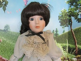 """Beatrice Dolls  Porcelain Collector Doll brown hair Victorian 18"""" Tags S... - $44.55"""