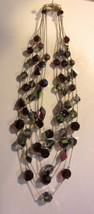 Vintage Vendome  six strand crystal necklace - stunning - $118.75