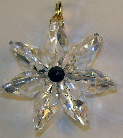 J'Leen Clear Crystal Daisy Jet Black Center